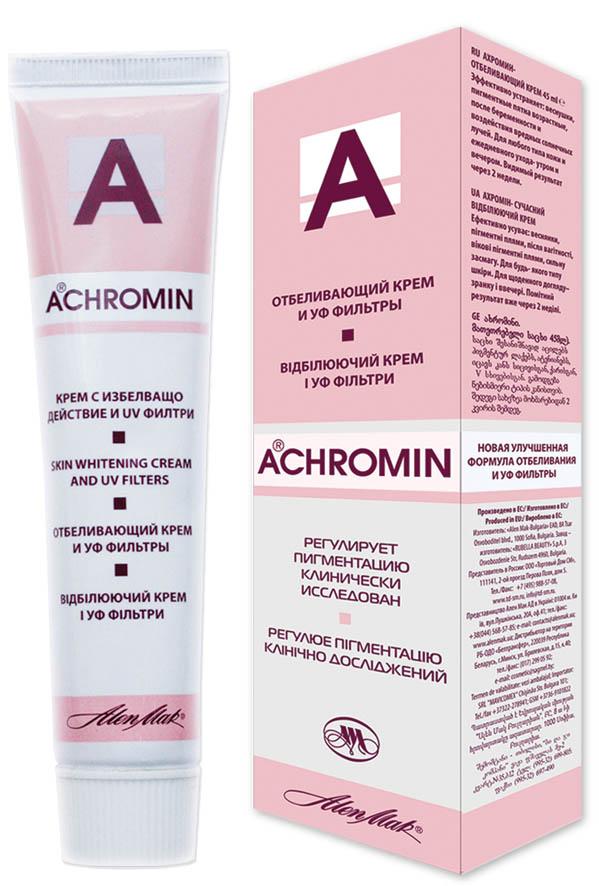 отбеливающий крем ахромин от пигментных пятен отзывы